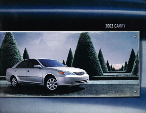 2002 Toyota Camry 18-page DELUXE BIG SIZE Original Car Sales Brochure Book