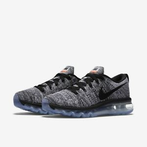 670fe60cefb6 NIKE FLYKNIT AIR MAX MEN S RUNNING SHOES OREO US 10.5 BLACK WHITE ...