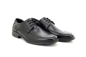 Details zu Herren Schnürschuhe Schwarz Beschichtet Leder Formell Büro Schuhe UK Größe 6