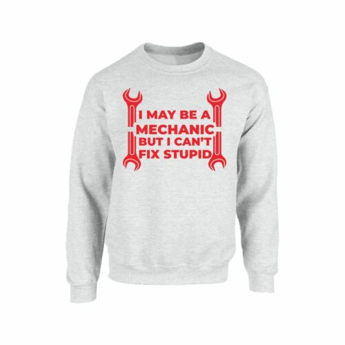 Mechanic Unisex Men Ladies Pullover Jumper Novelty Humour Enginner Sweat Shirt