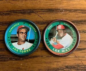 1971-Topps-COINS-11-Joe-Torre-and-29-Lee-May