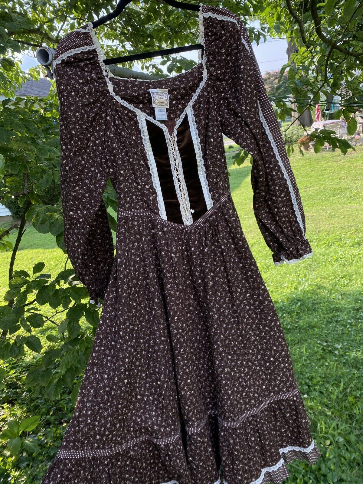 gunne sax prairie dress vintage - image 1