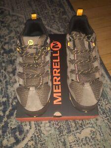 5455a7cc7d Details about Men's Merrell Alverstone Mid Waterproof Hiker Boot Merrell  Stone Suede/Mesh 14