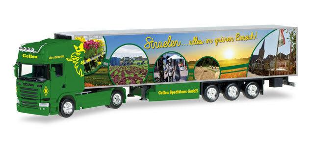 Herpa 306324 H0 LKW Scania R TL Kühlkoffer-Sattelzug Gellen
