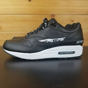 Details about Nike Air Max 1 SE Just Do It Black Logo White Women's Running Shoe 881101 005