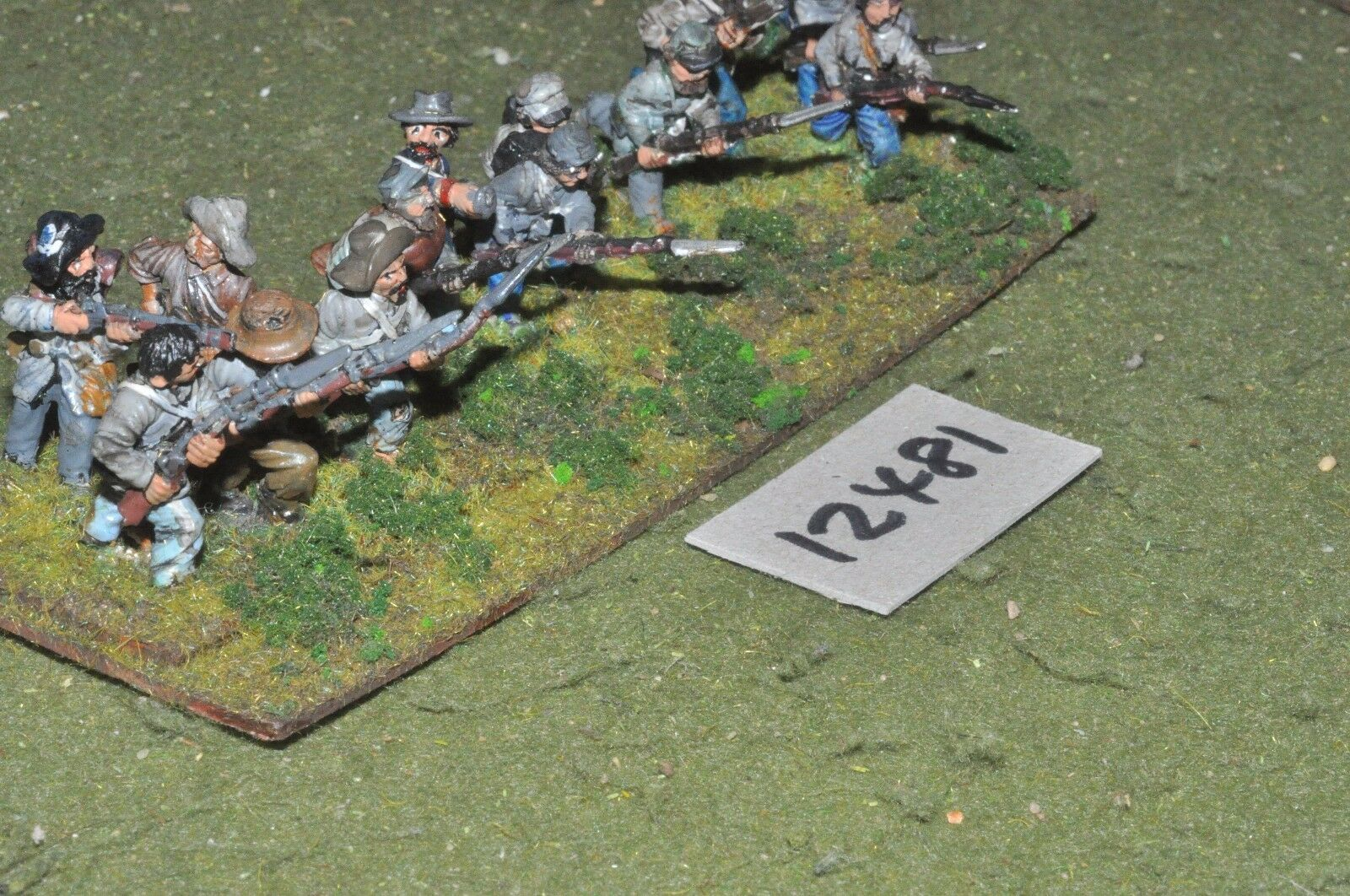 25mm ACW   confederate - american civil war infantry 13 figures - inf (12481)