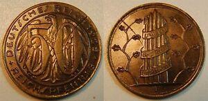 Probeprägung Weimar 50 Pfennig 1925 F Gestaltungsprobe To J.324/318 Brass