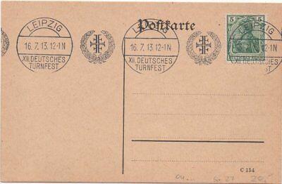 """Deutsches Turnfest Leipzig"""" 1913 DemüTigen Dr Gs Mit Sst Leipzig """"12"""