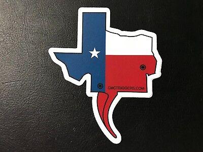 Genuine Texas CMC Triggers Logo Sticker Decal White White Blue Red