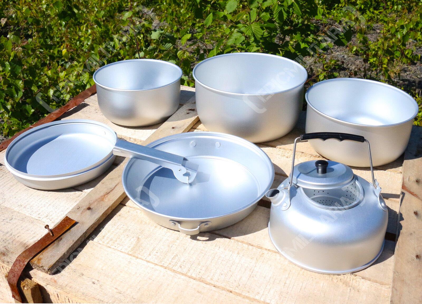 5 Teile Tragbar Zelten Kochset Set und Wasserkessel leicht Wandern Outdoor