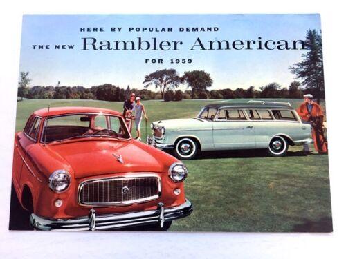 1959 American Motors AMC Rambler American Original Car Sales Brochure