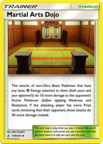 179//214 x4 Martial Arts Dojo Uncommon Pokemon SM10 Unbroken Bonds M//NM Engli