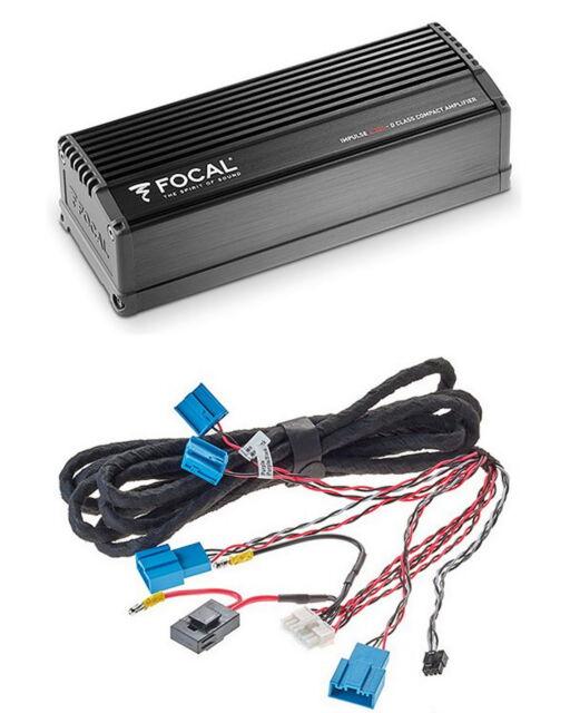 Para bmw f-modelos focal impulsos pequeño 4-canal amplificador 320 vatios RMS digital