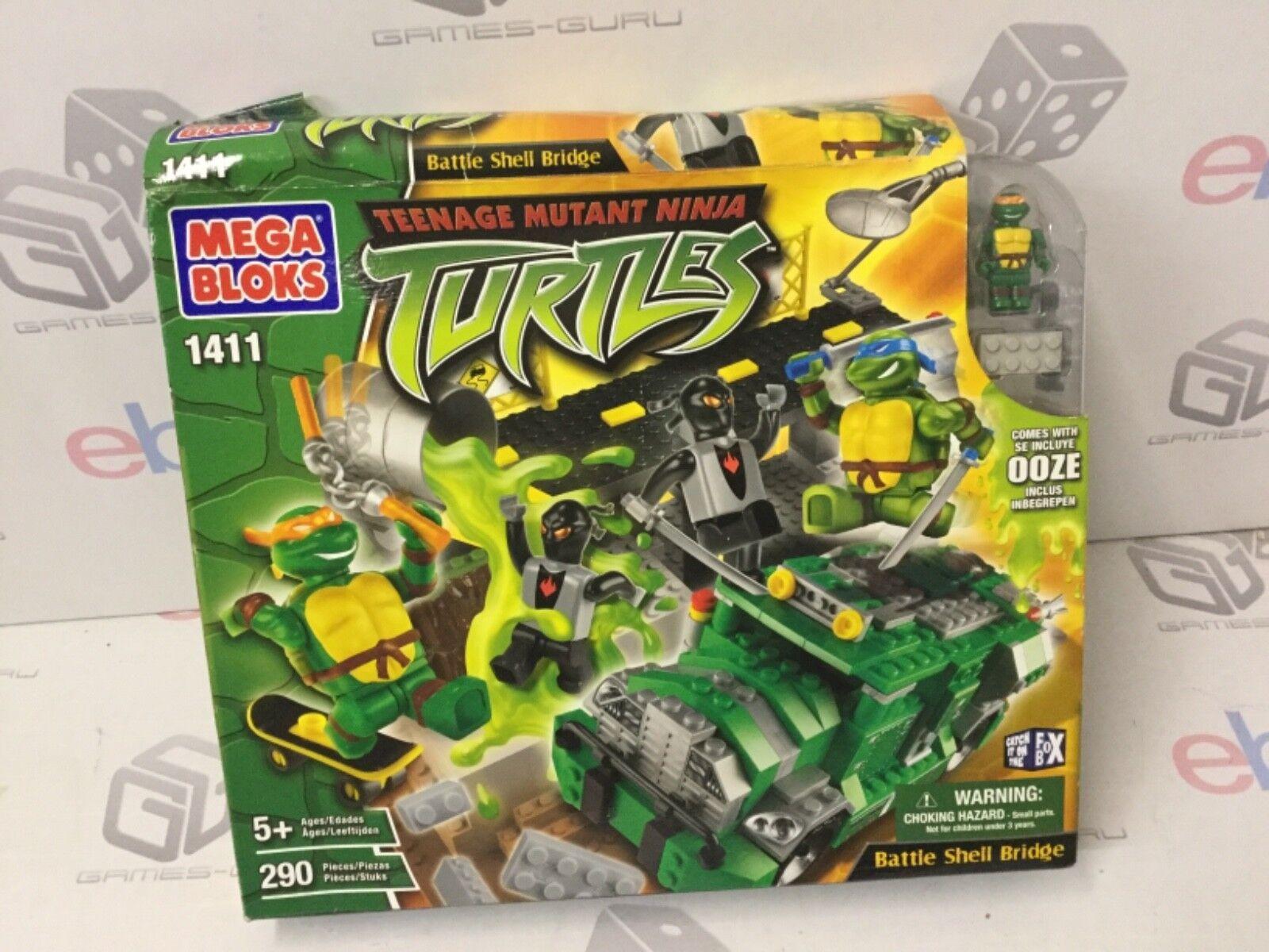 liquidación hasta el 70% Puente De Concha De Batalla 2005  En caja Mega Mega Mega Bloks  Teenage Mutant Ninja Turtles NUEVO  punto de venta de la marca