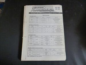 100% QualitäT Original Service Manual Grundig So 202 So 205 Eleganter Auftritt