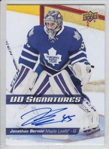 2014-15-UD-SERIES-JONATHAN-BERNIER-UD-SIGNATURES-AUTO-Upper-Deck-Autograph-Leafs