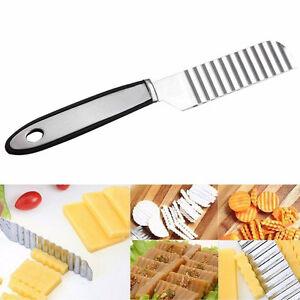 Edelstahl-Kartoffel-Chip-Gemuese-Schneidmesser-Schneidmesser-Wellen-Messer-P0M6