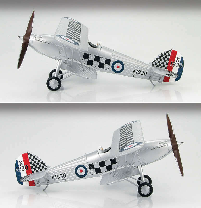 Hobby Master1   48 Hawker Fury  Mk I Raf Fighting Coqs , R H Hanmer, HA8001B  tous les produits sont spéciaux
