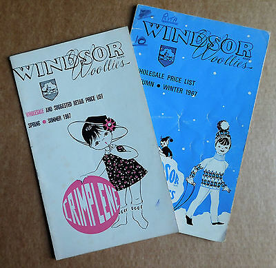 2 1967 catalogues Windsor Woollies 1960s childrens clothes Crimplene Courtelle k