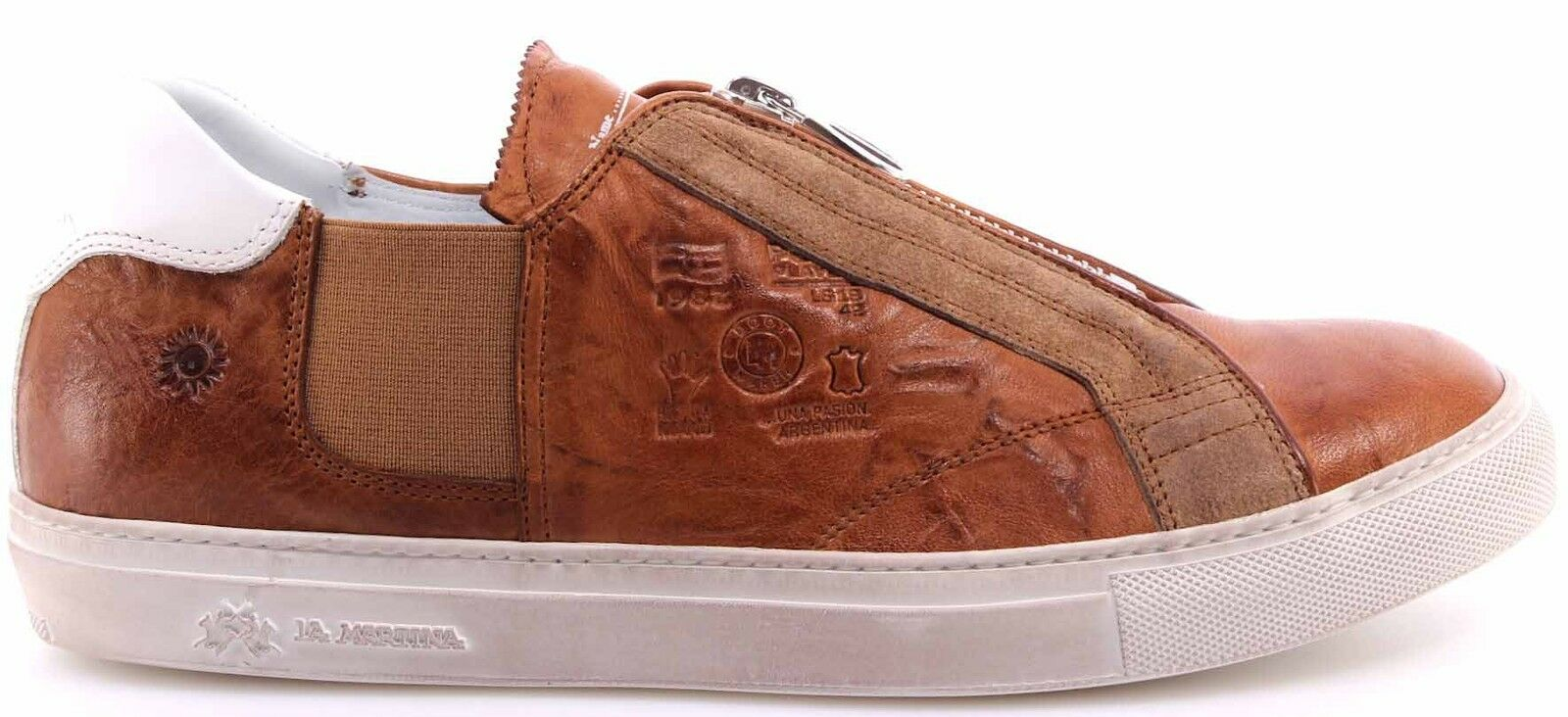Hommes Baskets chaussures La Martina l3000121 Plutone Cuoio Cuero Cuir Made