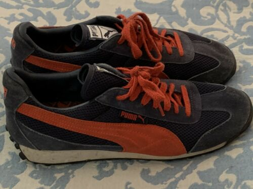 Puma Vintage Suede Sneaker Blue Orange Size 10M Wo