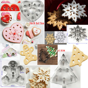 Details About 3d Christmas Stainless Cookies Cutter Mould Fondant Cake Biscuit Pastry Mold Diy