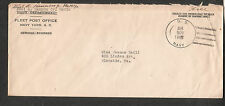 c WWII cover Paul A Hannon Jr MAM1c US Navy Yard FPO SC to Glenside CA