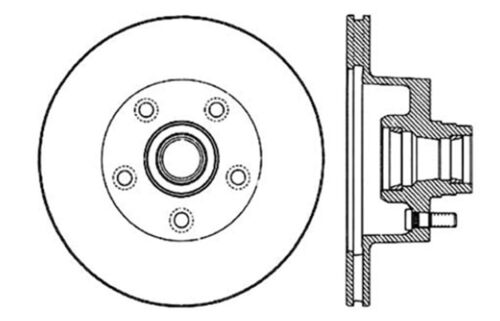 Disc Brake Rotor Front Centric 121.63002