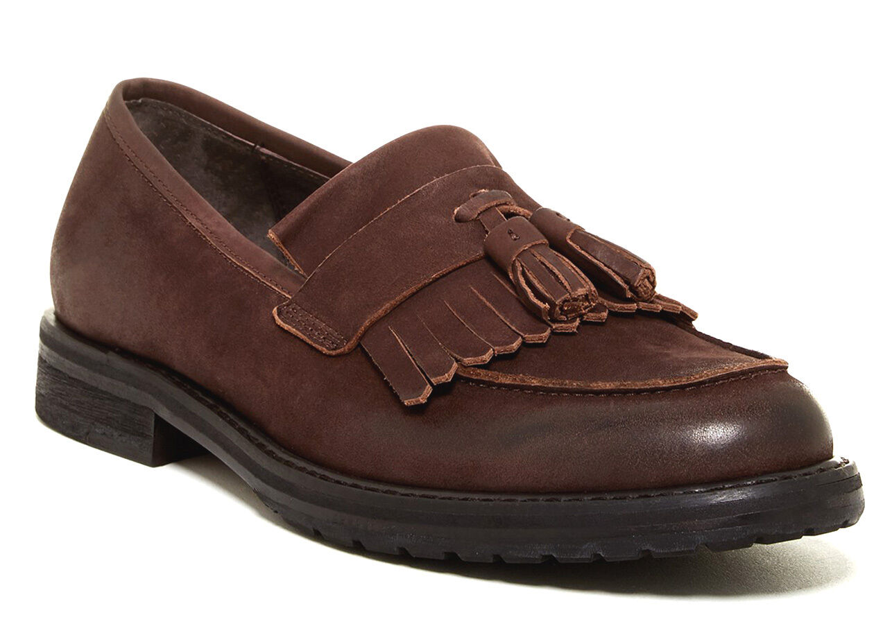 New Marco Vicci Kiltie Tassel Leather Leather Leather Loafer men's shoes sz US 9 EUR 42 0b9092