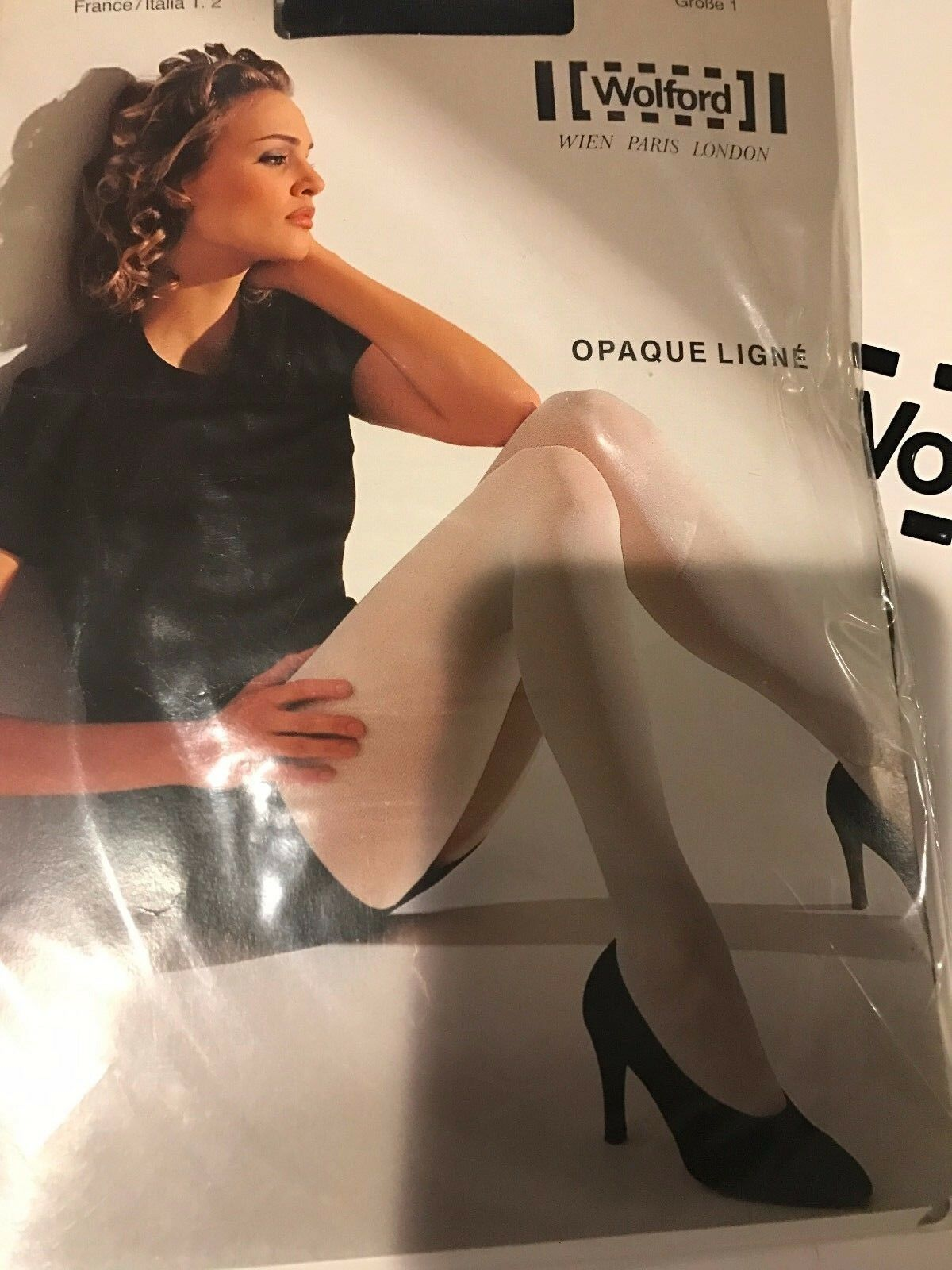 Wolford Opaque Ligne Tights Pantyhose color  Admiral Size  Medium 11687 -12