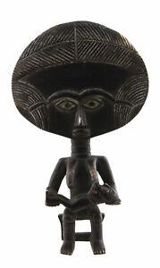 Bambola Fertilità Ashanti Akwaba Ghana Statua Bronzo Arte Africano 16805