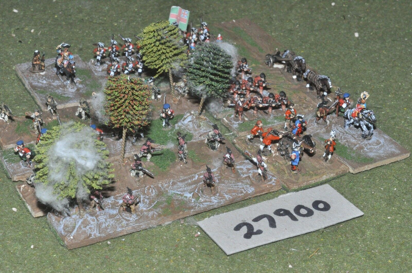 10mm 7YW   british - french indian wars battle group 70 figures - inf (27900)