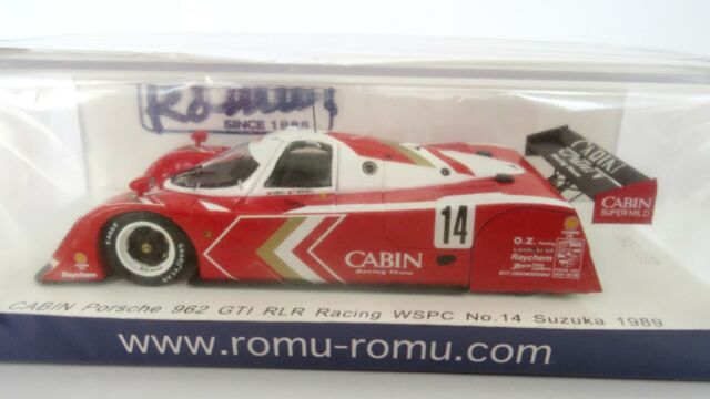 SPARK ROMU017   1/43  Porsche 962  GTI RLR   CABIN   #14  Suzuka 1989