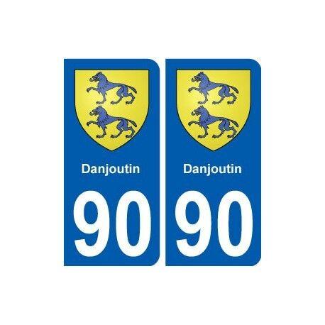 90 Danjoutin blason autocollant plaque stickers ville arrondis