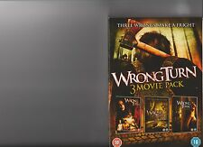 WRONG TURN 1 2 AND 3  DVD 3 MOVIE PACK RATED 18 HORROR