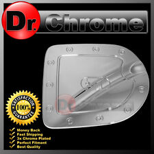 Triple Chrome Fuel Tank Gas door Cover for Nissan 05-14 Frontier Short Truck Bed
