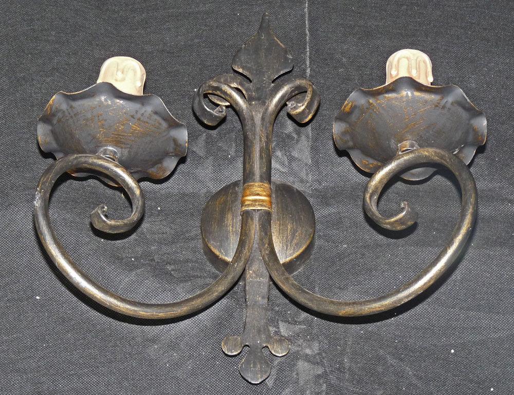 Rustico applique antica lampada da parete art ferro forgiato