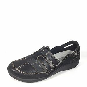 a98124c83f0 Cloudsteppers By Clarks Sillian Stork Women s Size 9 M Black Slip On ...