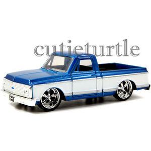 Jada-Just-Trucks-1972-Chevy-Cheyenne-Pickup-Truck-1-32-Diecast-2Tone-White-Blue
