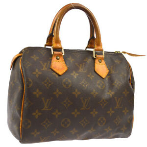 LOUIS-VUITTON-SPEEDY-25-HAND-BAG-PURSE-MONOGRAM-CANVAS-M41528-TH0918-O02673