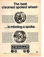 1973 CRAGAR CHROME SPOKED WHEEL  ~  CLASSIC ORIGINAL PRINT AD
