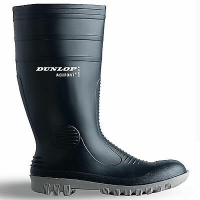 NEW MENS QUALITY RUBBER DUNLOP SAFETY WORK WELLINGTONS STEEL TOE CAP BOOTS 6-12