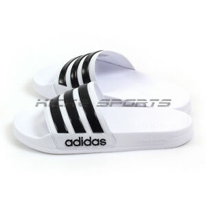 097c25d66ff1 Image is loading Adidas-Adilette-Shower-White-Black-White-Cloudfoam-Sandals-