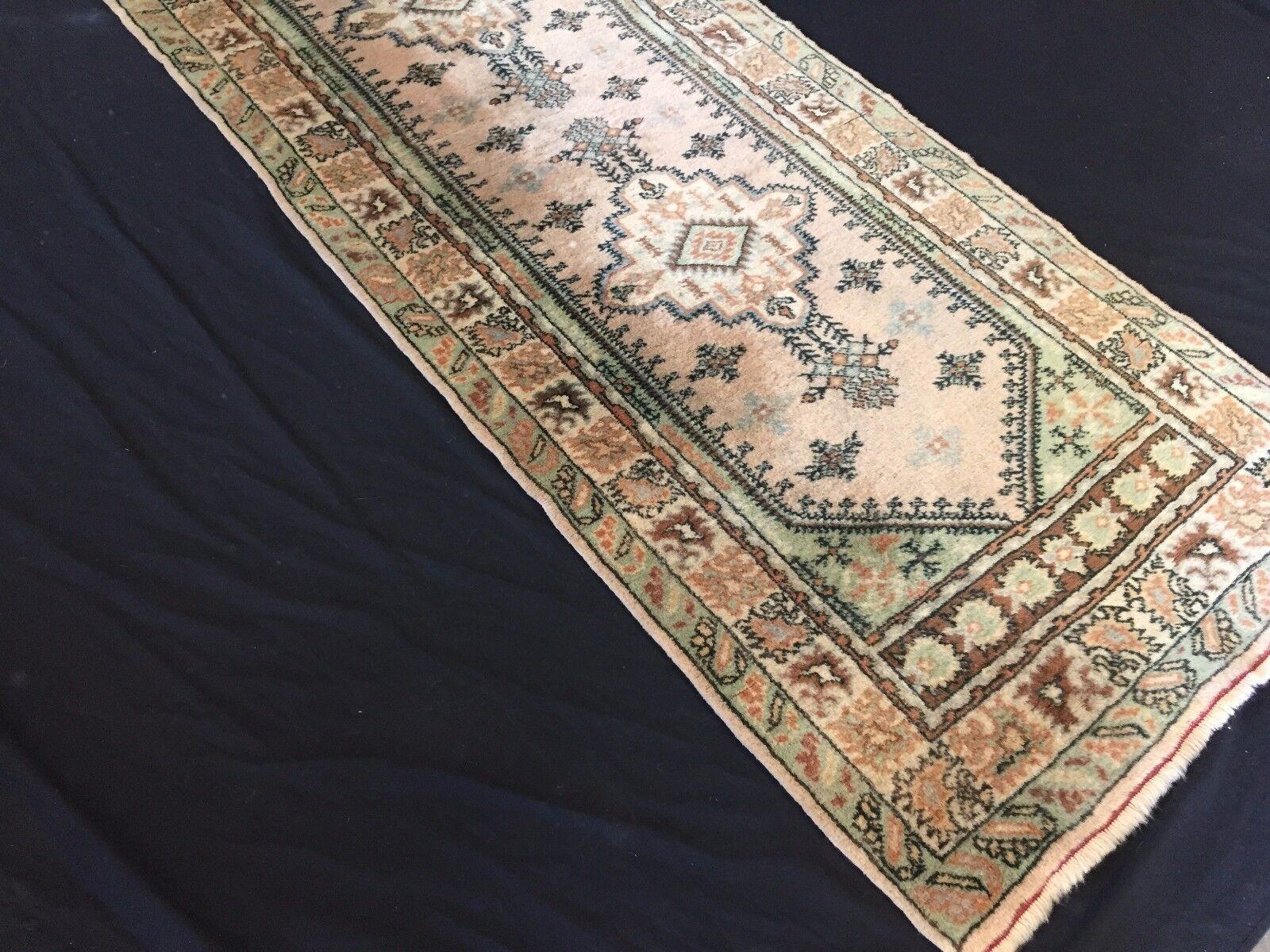Antiguo John Lewis turco Kula Corrojoor De Lana Oriental y tribales hecha a mano 327x83cm