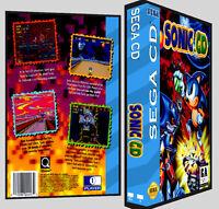 Sonic Cd - Sega Cd Reproduction Art Dvd Case No Game