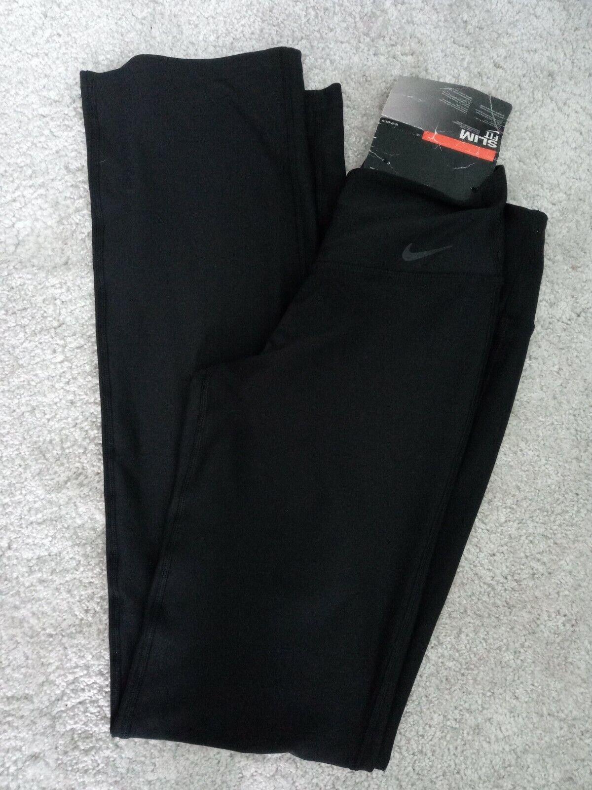 Womens NIKE Dri-Fit Slim Pants/leggings. Black Size XS. NEW With tags