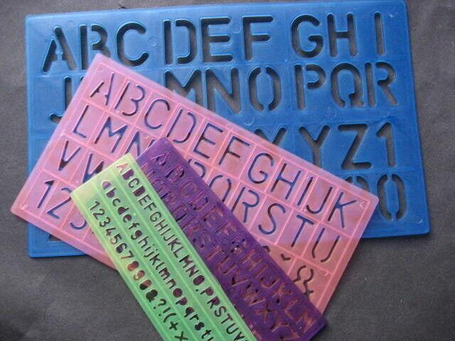 Schreibschablone  Schablone Set 4teilig Buchstaben /& Zahlen
