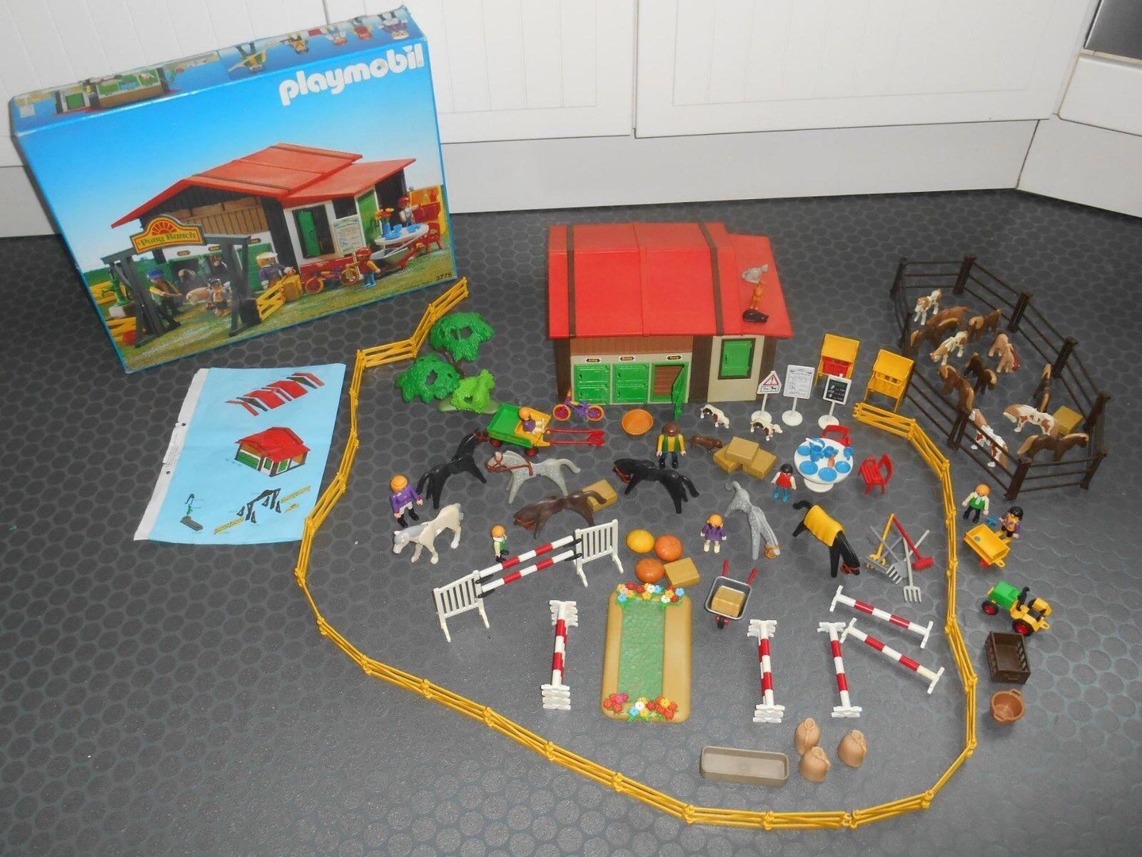 Vintage Playmobil Ponyhof mit BA und Originalkarton Nr. 3775