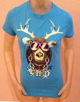 Alab Clothing Wild Moose W/ Sunglasses Aqua T-shirt Juniors Medium M