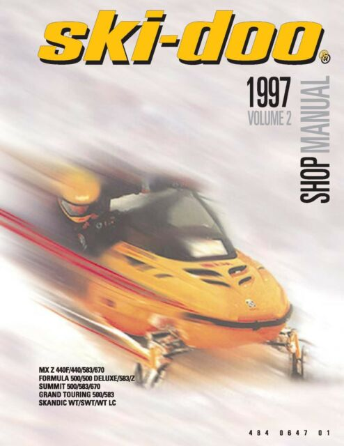 ski doo service shop manual 1997 summit 500 583 670 ebay rh ebay com Manual Book Parts Manual